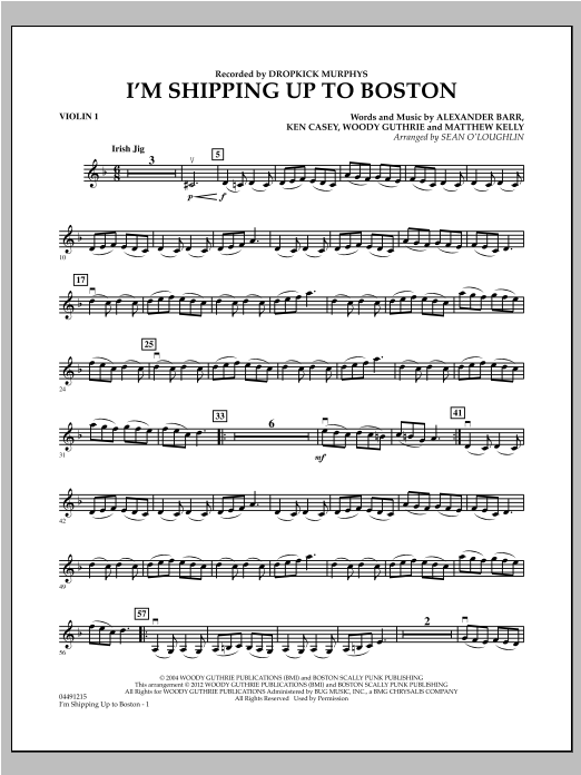 I'm Shipping Up To Boston - Violin 1 Sheet Music