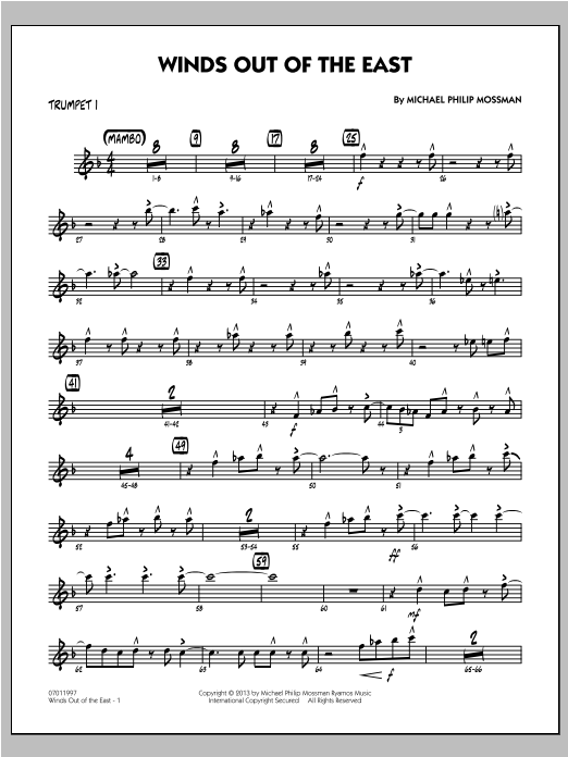 Winds Out Of The East - Trumpet 1 Sheet Music