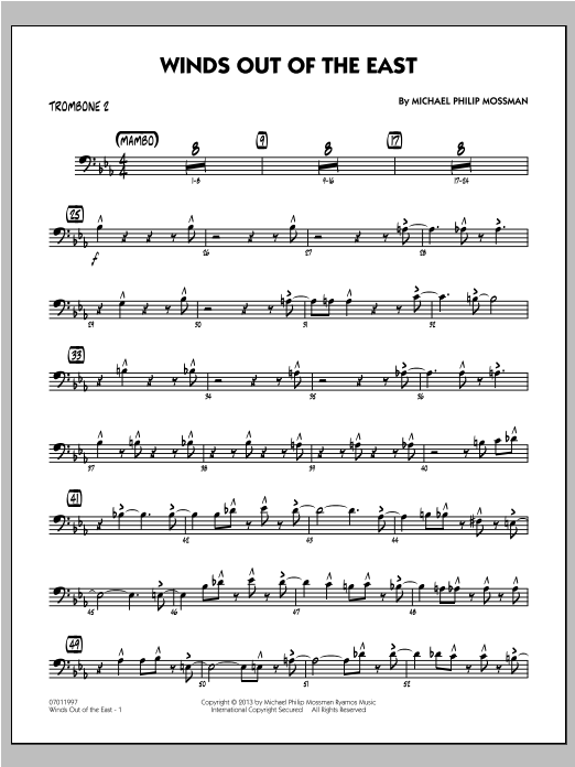 Winds Out Of The East - Trombone 2 Sheet Music