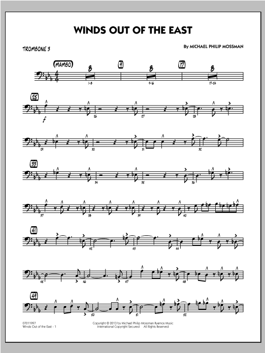 Winds Out Of The East - Trombone 3 Sheet Music