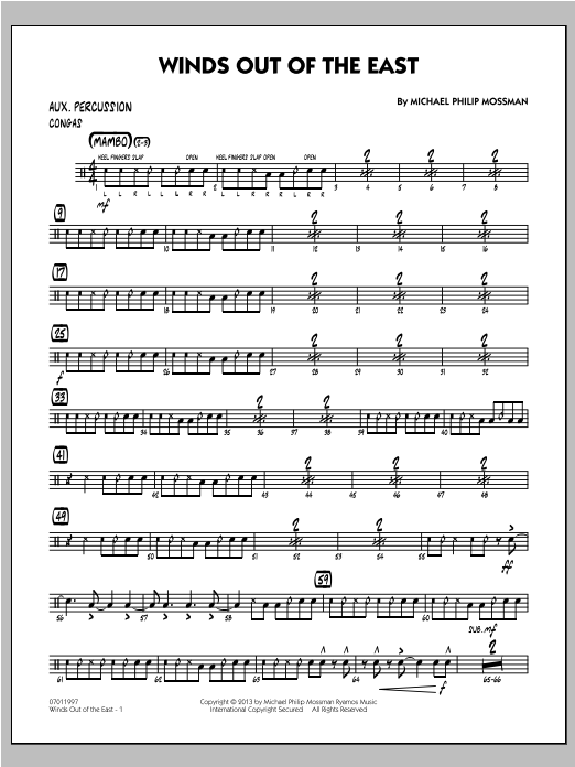 Winds Out Of The East - Aux Percussion Sheet Music