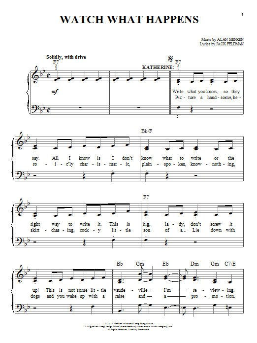 Watch What Happens Sheet Music