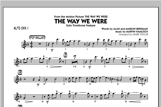 The Way We Were - Alto Sax 1 Sheet Music
