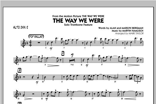 The Way We Were - Alto Sax 2 Sheet Music