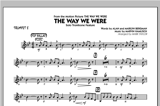 The Way We Were - Trumpet 2 Sheet Music