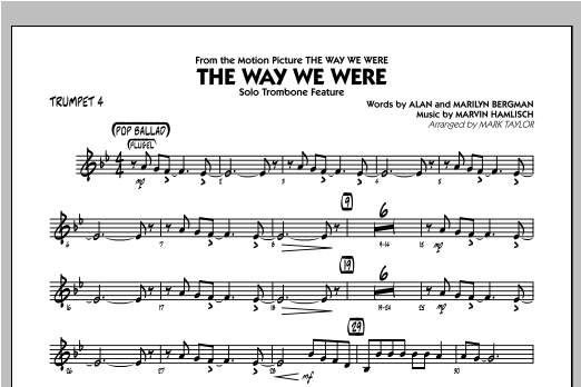 The Way We Were - Trumpet 4 Sheet Music