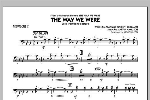 The Way We Were - Trombone 2 Sheet Music