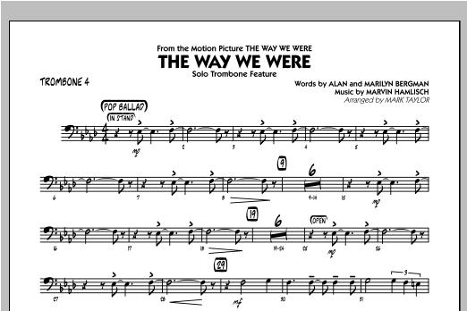 The Way We Were - Trombone 4 Sheet Music