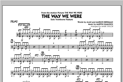 The Way We Were - Drums Sheet Music