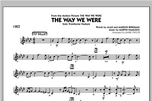 The Way We Were - Vibes Sheet Music