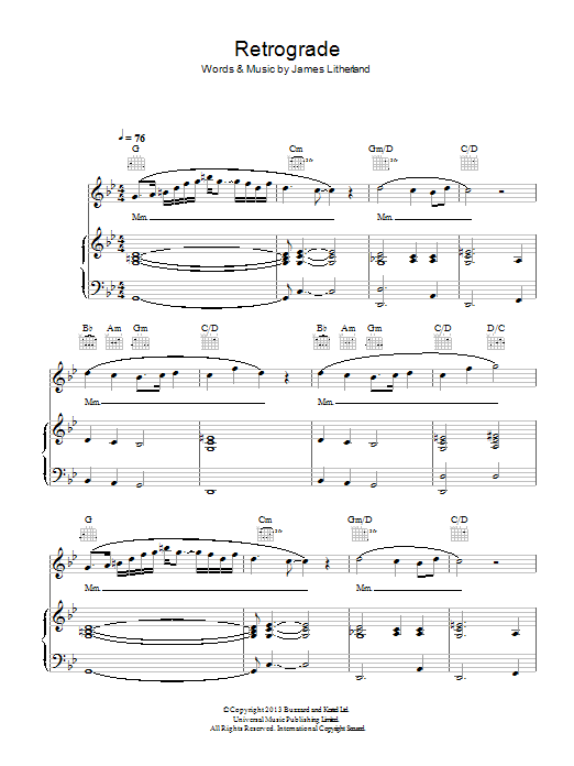 Retrograde Sheet Music Direct