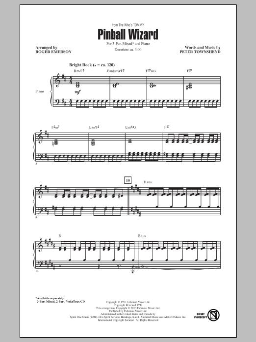 Pinball Wizard (arr. Roger Emerson) Sheet Music