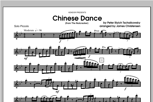 Chinese Dance (from The Nutcracker) - Piccolo Sheet Music