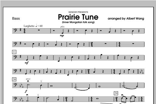 Prairie Tune (Inner Mongolian folk song) - Bass Sheet Music