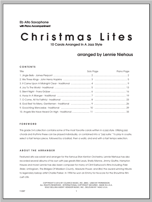 Christmas Lites - Alto Sax Sheet Music