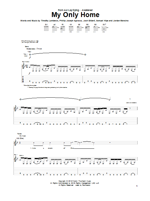 My Only Home (Guitar Tab)