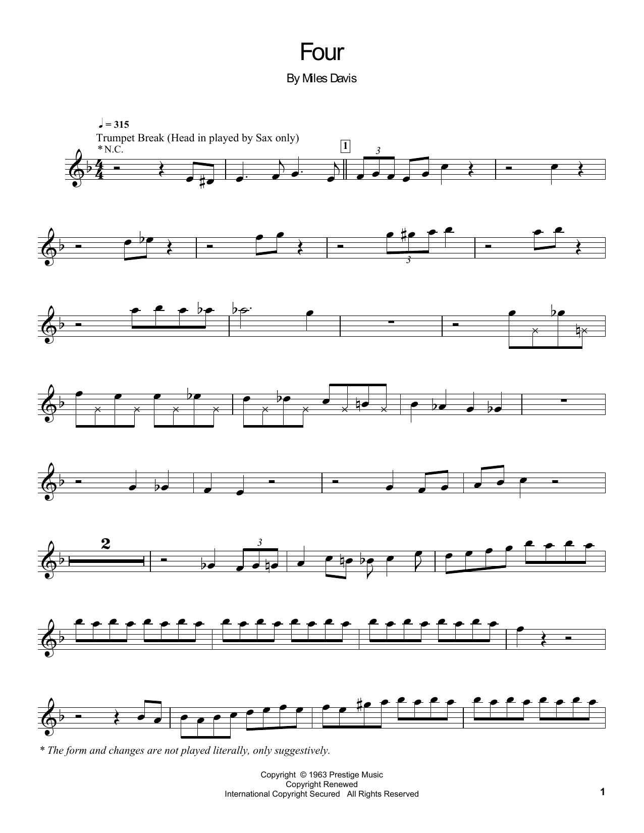 Four Sheet Music