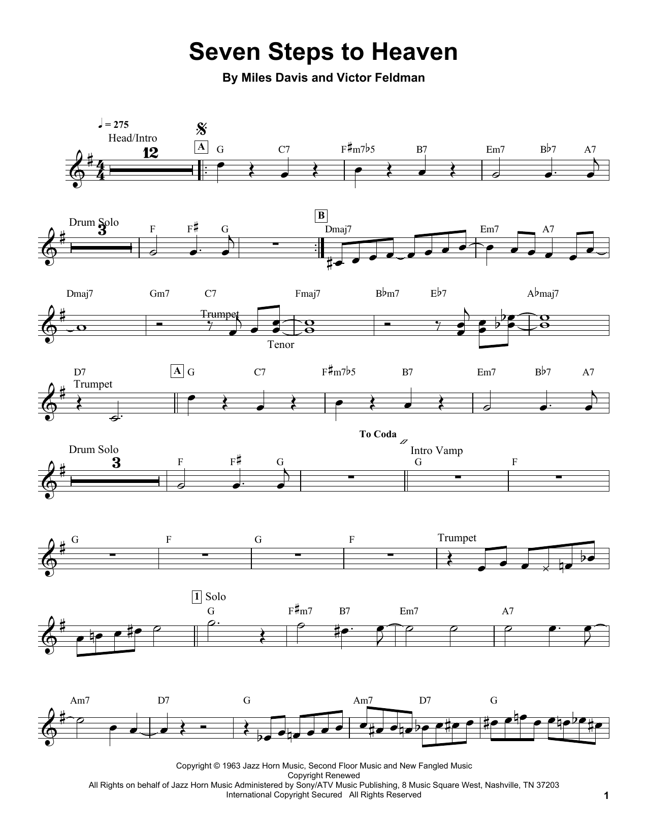 Seven Steps To Heaven Sheet Music