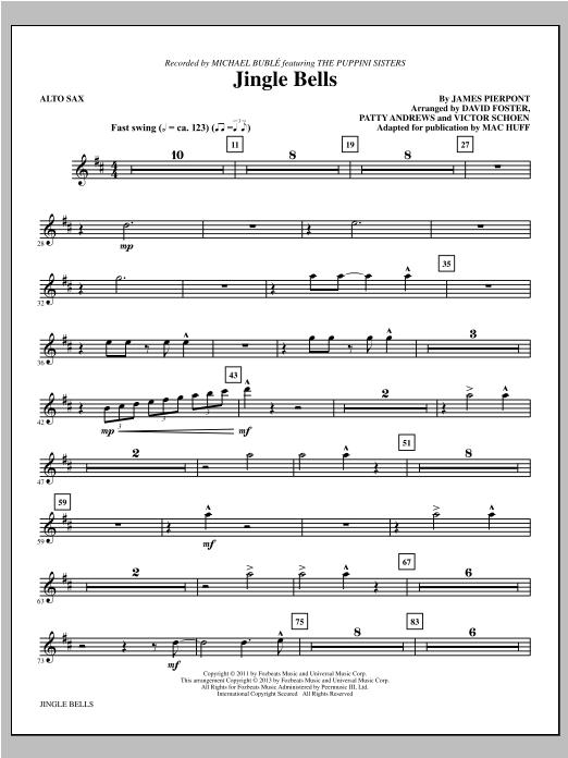 Jingle Bells - Alto Sax Sheet Music