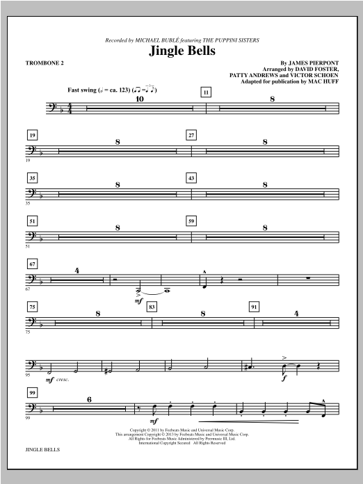 Jingle Bells - Trombone 2 Sheet Music