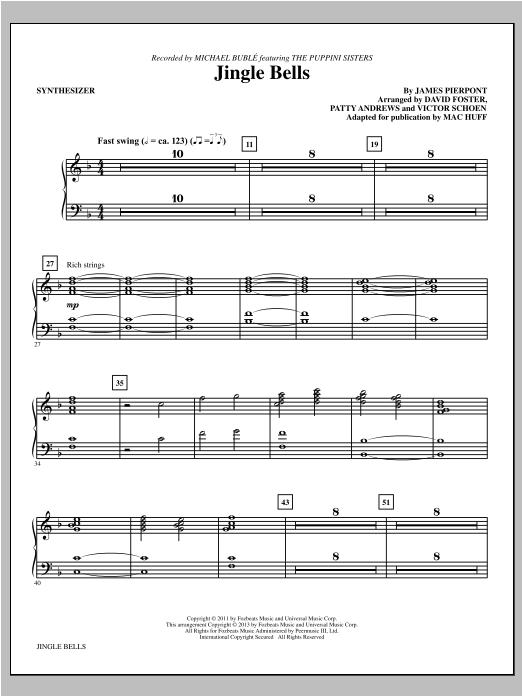Jingle Bells - Synthesizer Sheet Music