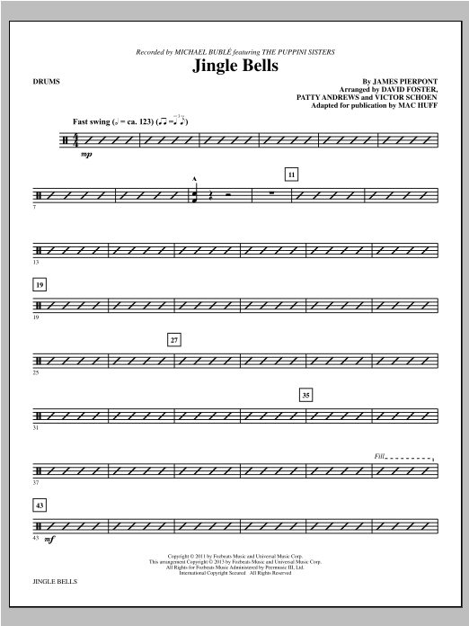 Jingle Bells - Drums Sheet Music