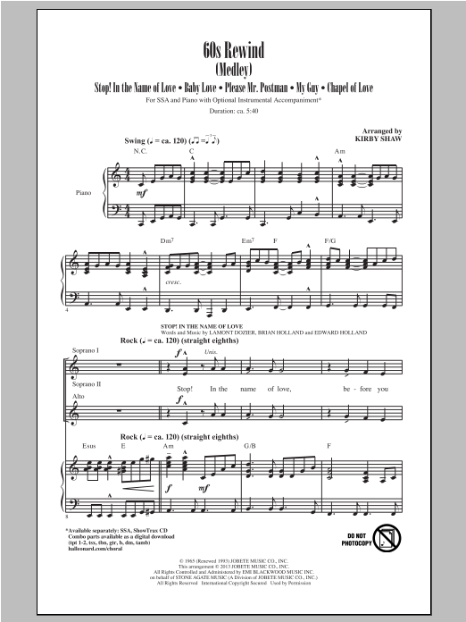 60s Rewind (Medley) Sheet Music