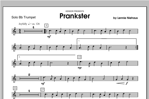 Prankster - Trumpet Sheet Music
