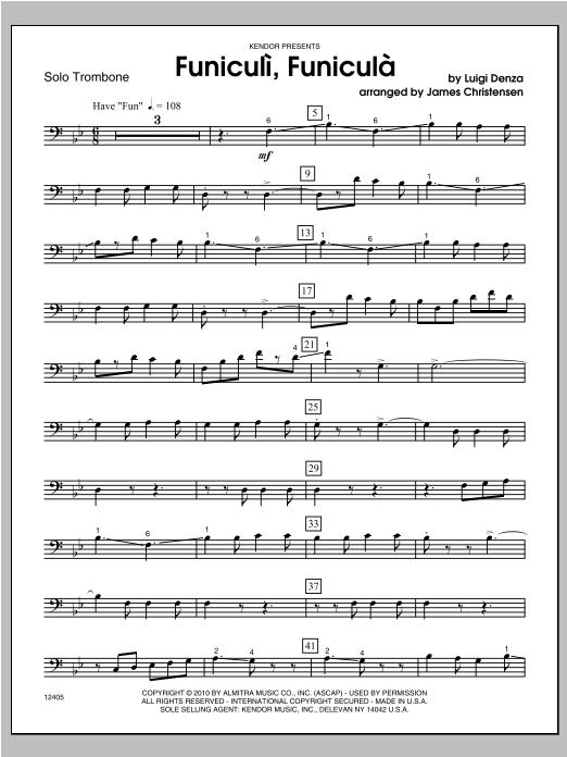 Funiculi, funiculá - Trombone Sheet Music