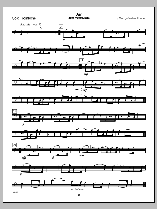 Wedding Masterworks - Trombone - Trombone Sheet Music