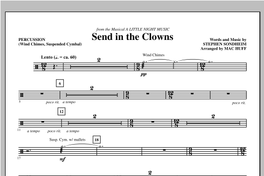 Send in the Clowns - Percussion Sheet Music