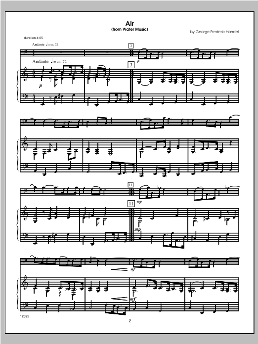 Wedding Masterworks - Trombone (COMPLETE) sheet music for trombone and piano by Halferty. Score Image Preview.