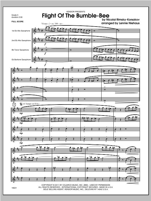 Flight Of The Bumble-Bee - Full Score Sheet Music
