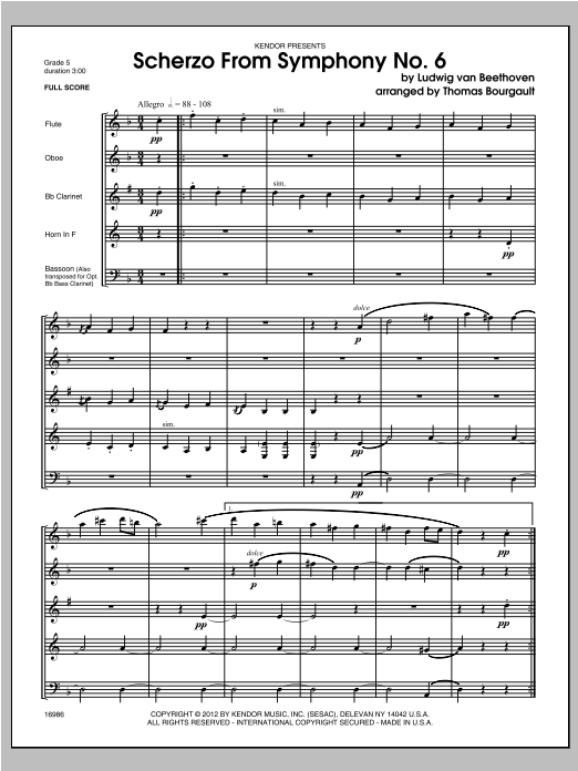 Scherzo From Symphony No. 6 - Full Score Sheet Music