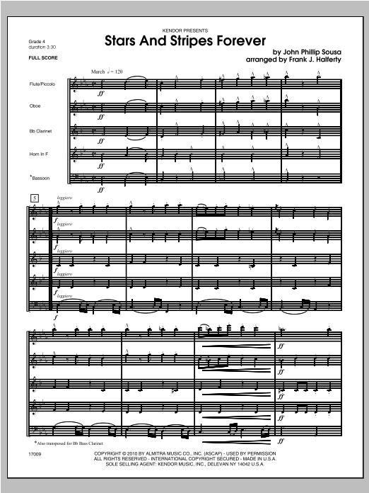 Stars And Stripes Forever - Full Score Sheet Music