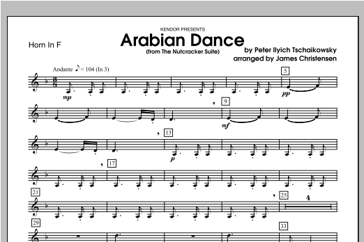 Arabian Dance (from The Nutcracker Suite) - Horn Sheet Music