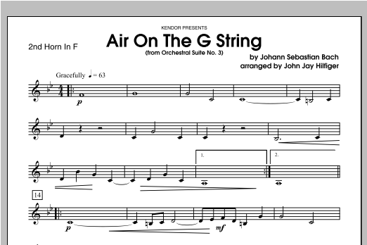 Air On The G String (from Orchestral Suite No. 3) - Horn 2 in F Sheet Music