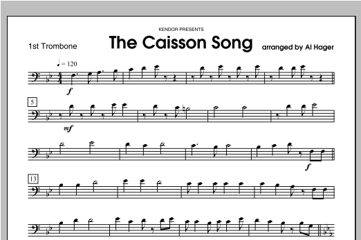 Caisson Song, The - Trombone 1 Sheet Music