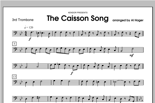 Caisson Song, The - Trombone 3 Sheet Music