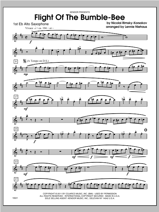 Flight Of The Bumble-Bee - Alto Sax 1 Sheet Music