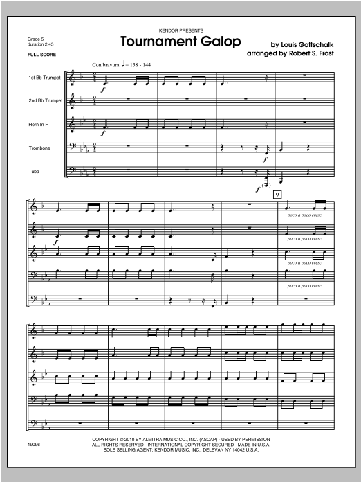 Tournament Galop - Full Score Sheet Music