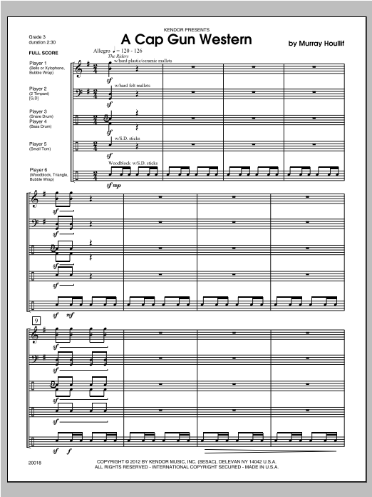 Cap Gun Western, A (COMPLETE) sheet music for percussions by Houllif. Score Image Preview.