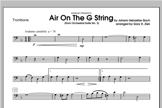 Air On The G String (from Orchestral Suite No. 3) - Trombone Sheet Music