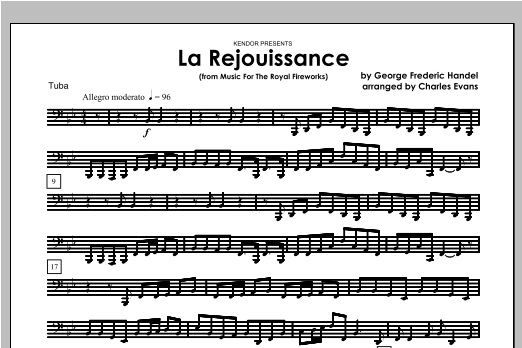 La Rejouissance (from Music For The Royal Fireworks) - Tuba Sheet Music