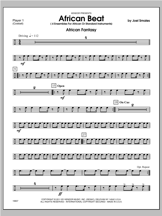 African Beat - Percussion 1 Sheet Music