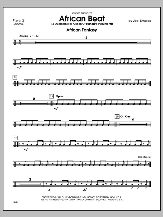 African Beat - Percussion 2 Sheet Music