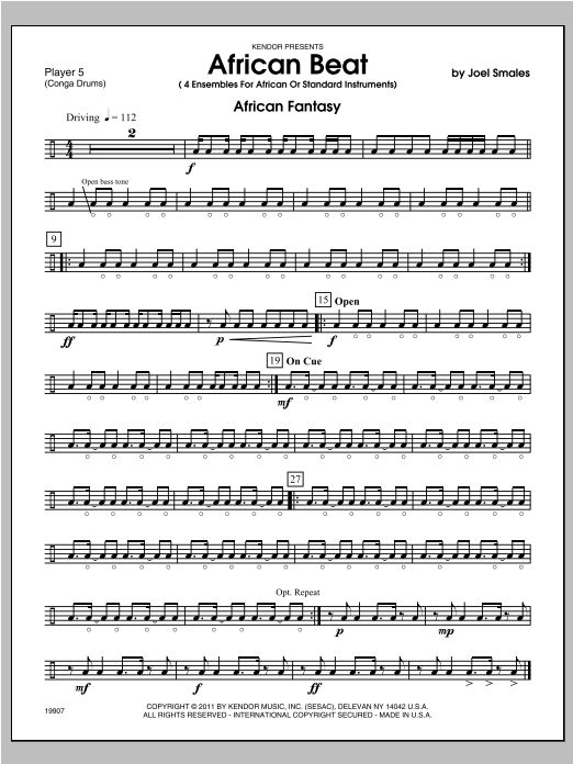 African Beat - Percussion 5 Sheet Music
