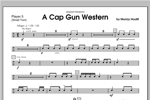 Cap Gun Western, A - Percussion 5 Sheet Music
