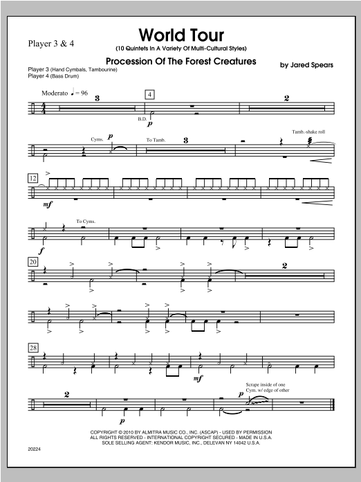 World Tour - Percussion 3 Sheet Music