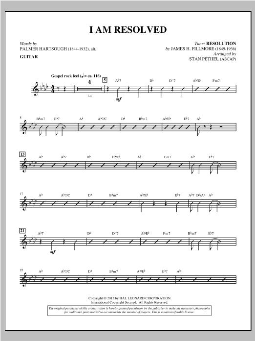 I Am Resolved - Guitar Sheet Music